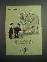 1948 Bovril Drink Ad - That's to teach him to keep his nose out of my Bovril