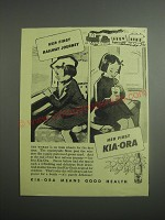 1948 Kia-Ora Fruit Drink Ad - Her first railway journey