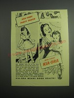 1948 Kia-Ora Fruit Drink Ad - Her first party frock