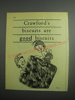 1948 Crawford's Biscuits Ad