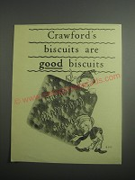 1948 Crawford's Biscuits Ad - are good biscuits