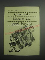 1948 Crawford's Biscuits Ad - Crawford's biscuits are good biscuits