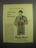 1948 Austin Reed Double-Breasted Jacket Ad - Achieving easy distinction