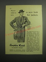 1948 Austin Reed Single-Breasted Suit Ad - A new look for jackets