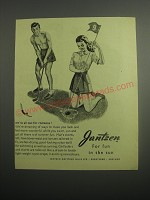 1948 Jantzen Ad - Men's Shorts and Girl's Shirt and Shorts -  for fun in the sun