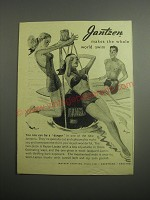 1948 Jantzen Ad - Two-Piece and One-Piece Women's Swimsuits and Mens Swim Trunks