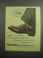1948 Church's Diplomat Shoes Ad - Forgive the short supplies we export