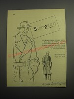 1948 Simpson Men's Overcoat Ad - For keeping snug on cold winter days