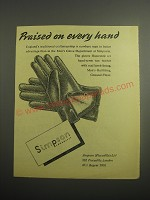 1948 Simpson Gloves Ad - Praised on every hand