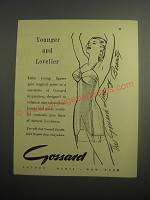 1948 Gossard Corselette Ad - Younger and Lovelier