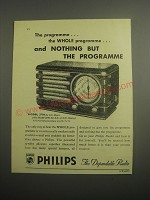1948 Philips Model 371A Radio Ad - The programme. The whole programme.
