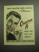 1948 Craven A Cigarettes Ad - Their Cork-Tips make smoking cleaner