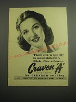 1948 Craven A Cigarettes Ad - Their extra quality is unmistakable.