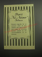 1948 Player's No Name Tobacco Ad