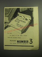1948 Player's Number 3 Cigarettes Ad - For those in search of rewards