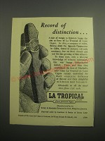 1948 LAmbert & Butler La Tropical Cigars Ad - Record of distinction