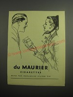 1948 Du Maurier Cigarettes Ad - With the exclusive filter