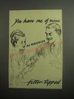 1948 Du Maurier Cigarettes Ad - You have one of mine