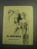 1948 Du Maurier Cigarettes Ad - Du Maurier Cigarettes with the exclusive filter