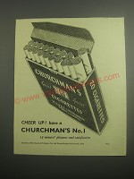 1948 Churchman's No. 1 Cigarettes Ad - Cheer up!