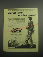 1948 Ford Cars Ad - Local boy makes good