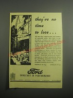 1948 Ford Cars Ad - They've no time to lose