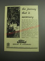1948 Ford Cars Ad - The journey that is necessary