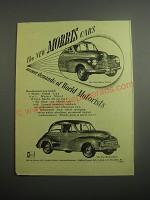 1948 Morris Oxford and Minor Cars Ad - The new Morris cars answer demands