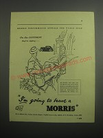 1948 Morris Cars Ad - On the Continent they're saying