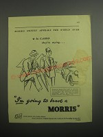 1948 Morris Cars Ad - In Cairo they're saying