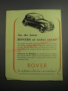 1948 Rover Cars Ad - See the latest Rovers at Earls Court