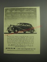 1948 Austin A125 Sheerline Car Ad - The Austin Sheerline more than lives up