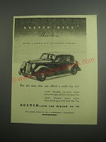 1948 Austin A125 Sheerline Car Ad - For the man who can afford a really big car