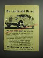 1948 Austin A40 Devon Car Ad - The car they stop to admire