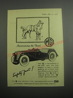1948 MG Cars Ad - Maintaining the Breed
