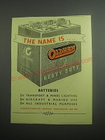 1948 Oldham Batteries Ad - The name is Oldham