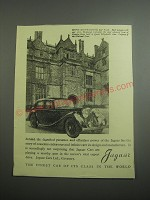 1948 Jaguar Cars Ad - Montacute House