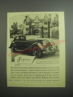 1948 Jaguar Cars Ad - This unusual gatehouse to 17th Century Stanway House