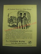 1948 Lloyds Bank Ad - All Lombard street to a china orange