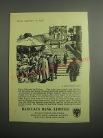 1948 Barclays Bank Ad - A Flower Market, Rome