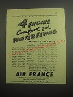 1948 Air France Ad - 4 engine comfort for winter flying