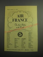 1948 Air France Ad - Air France the first airline in the world
