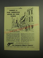1948 Pan American World Airways Ad - There's a Pan American Office in your town