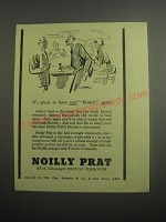 1948 Noilly Prat Vermouth Ad - It's great to have real French again