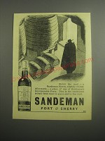 1948 Sandeman Port & Sherry Ad - Before the meal