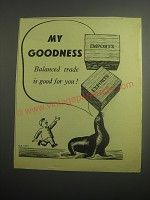 1948 Guinness Beer Ad - My Goodness balanced trade is good for you