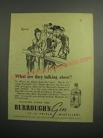 1948 Burrough's Gin Ad - Epsom What are they talking about?
