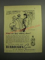 1948 Burrough's Gin Ad - Goodwood What are they talking about?