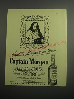 1948 Captain Morgan Jamaica Rum Ad - Captain Morgan's in Town