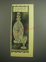 1948 Stuart Crystal Sherry Set Ad - Delicately cut in pure English crystal